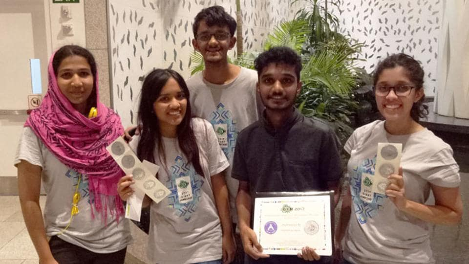 The student team from IISER after winning the silver medal at the international Genetically Engineered Machines (iGEM) contest.