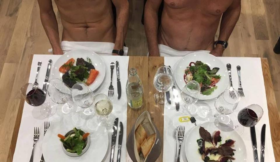 Paris,France,Nudist restaurant