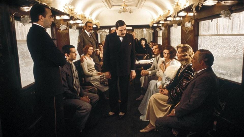 The stellar star cast of Muder on the Orient Express (1974).