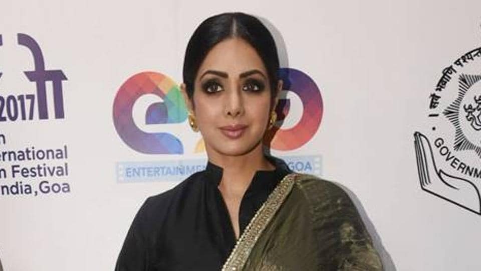Actor Sridevi showed how a lehenga need not necessarily be paired with a blouse.