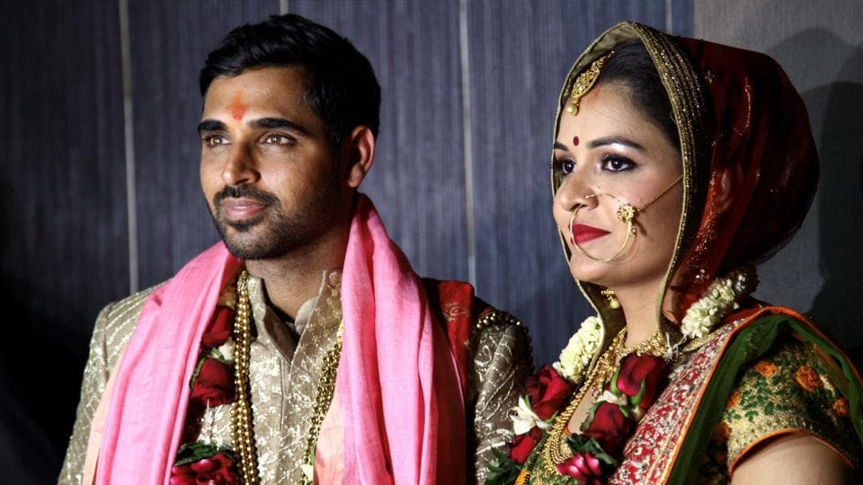 The wedding took place in Bhuvneshwar's home town of Meerut. (PTI)