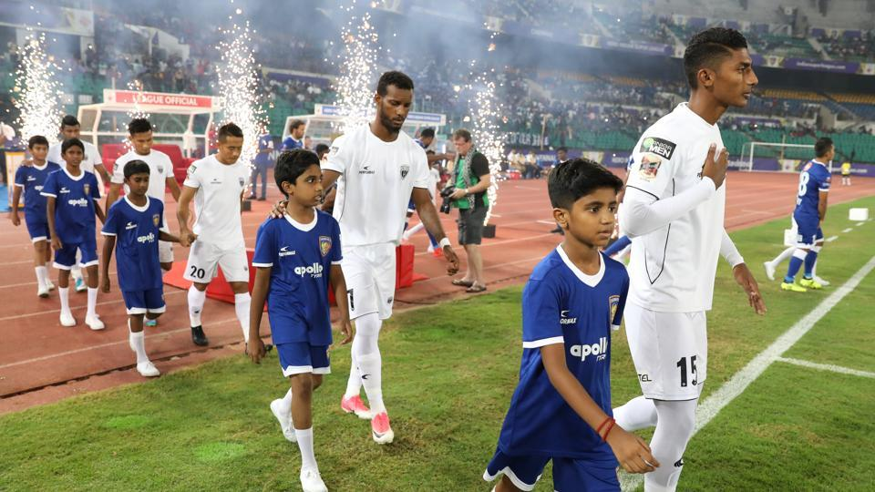 Both Chennaiyin FC and NorthEast United FC came into this game looking for their first win.  (ISL / SPORTZPICS)