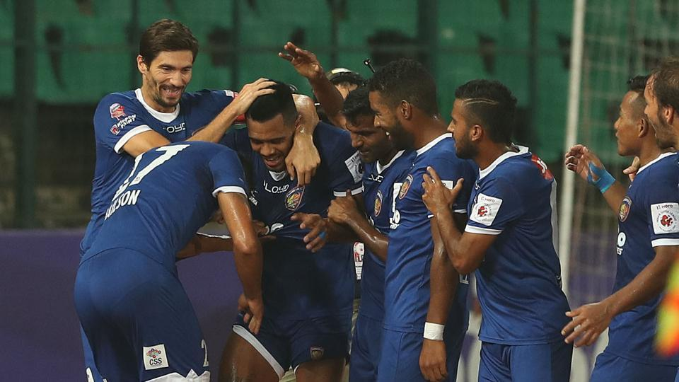 The goal came when Raphael Augusto's shot was parried in by Abdul Hakku.  (ISL / SPORTZPICS)