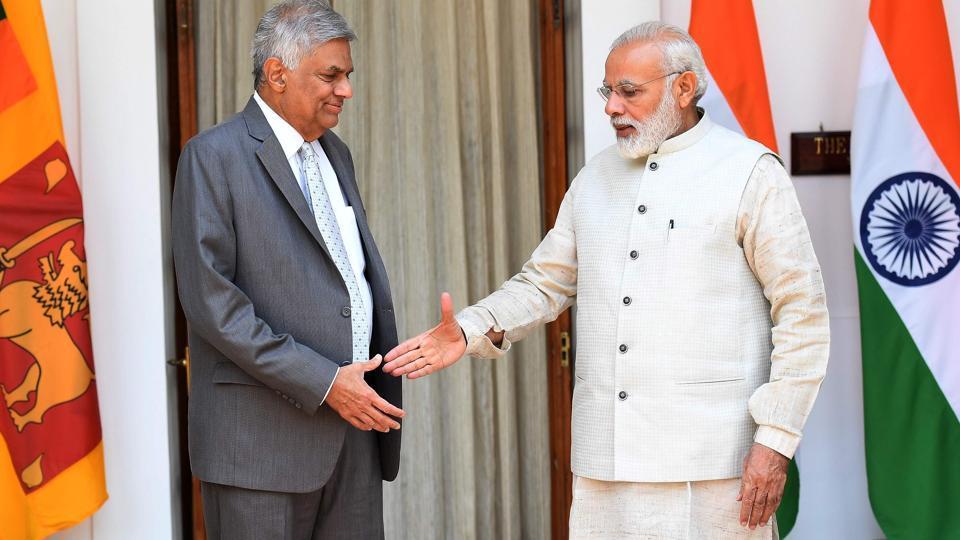 PM Narendra Modi meets Sri Lankan PM Wickremesinghe