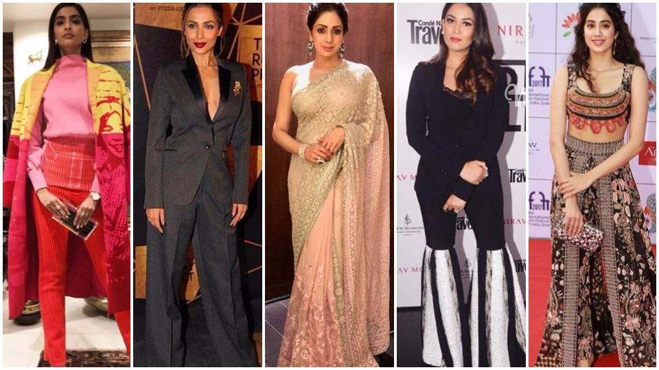 There's a lot to look at in this week's best-dressed celebrities list: Saris, pantsuits, lehengas, you name it.
