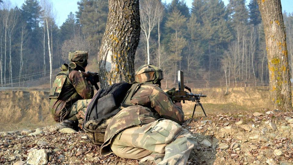 File photo of army personnel during an encounter with militants in Kupwara district of Kashmir.