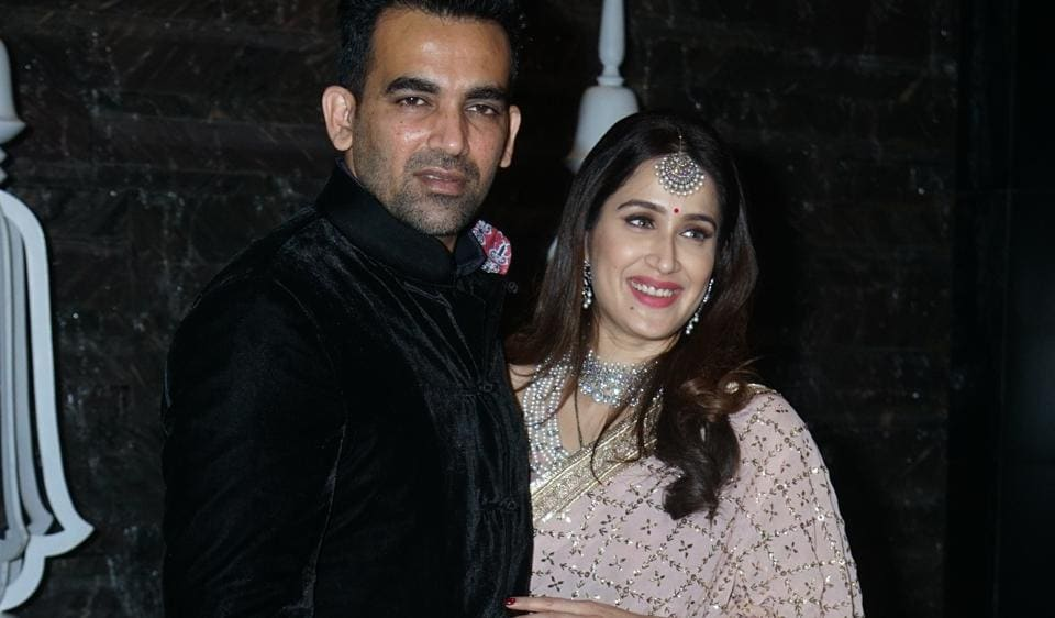 Zaheer Khan and Sagarika Ghatge hosted a wedding party on Thursday evening which was attended by Sachin Tendulkar, Vidya Malvade and other celebs.
