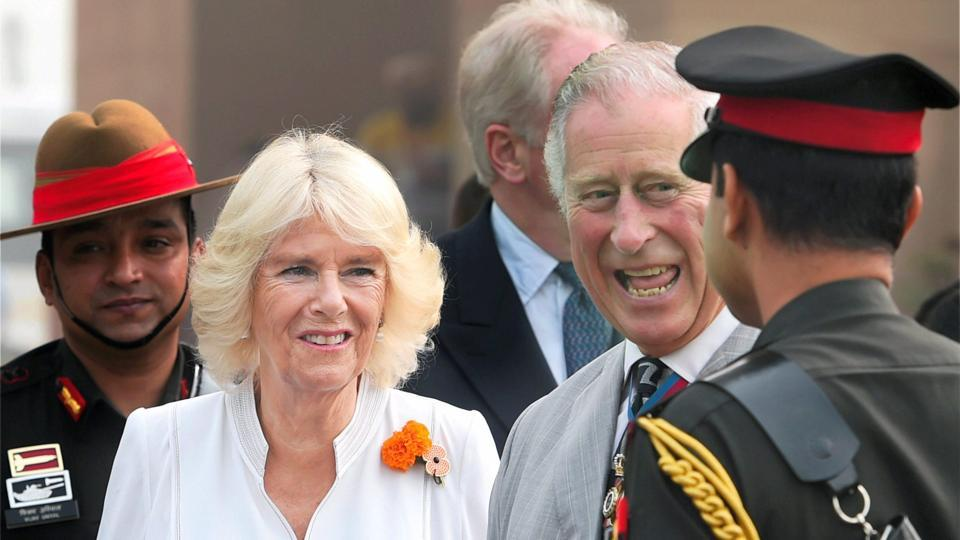 Britain's Prince Charles and his wife Camilla during their visit to India last month.