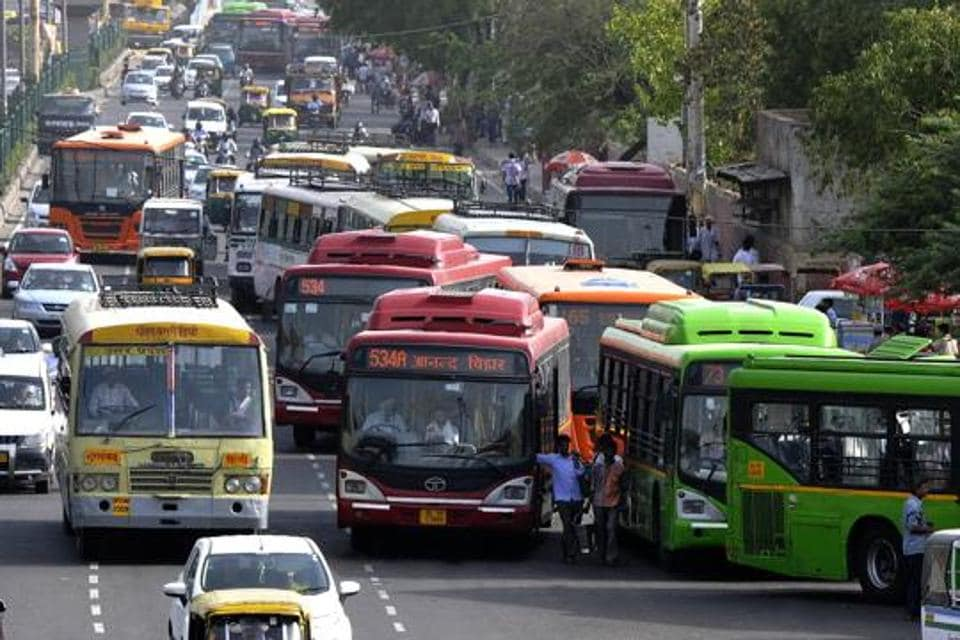 Busses in Delhi,Pollution in Delhi,Air pollution