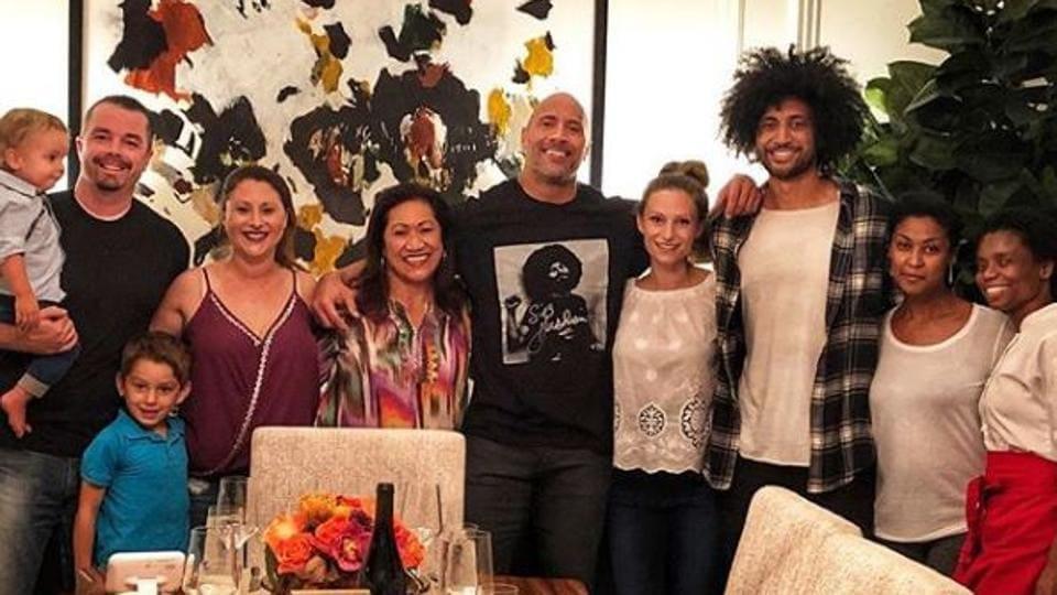 Dwayne Johnson,Dwayne Johnson thanksgiving,Dwayne Johnson family