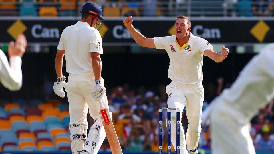 Australia started the second innings well, with Josh Hazlewood dismissing Alastair Cook cheaply.  (REUTERS)