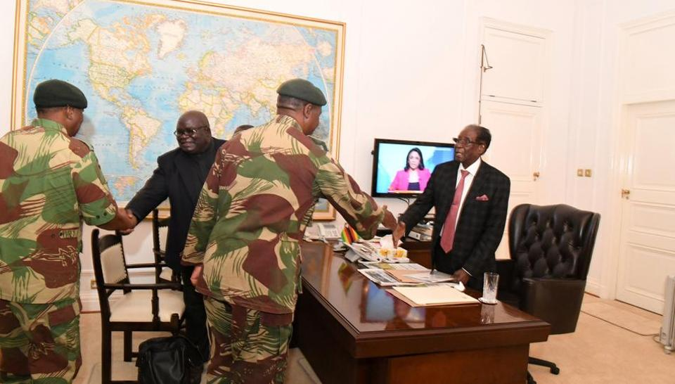 Zimbabwe,Robert Mugabe,Emmerson Mnangagwa