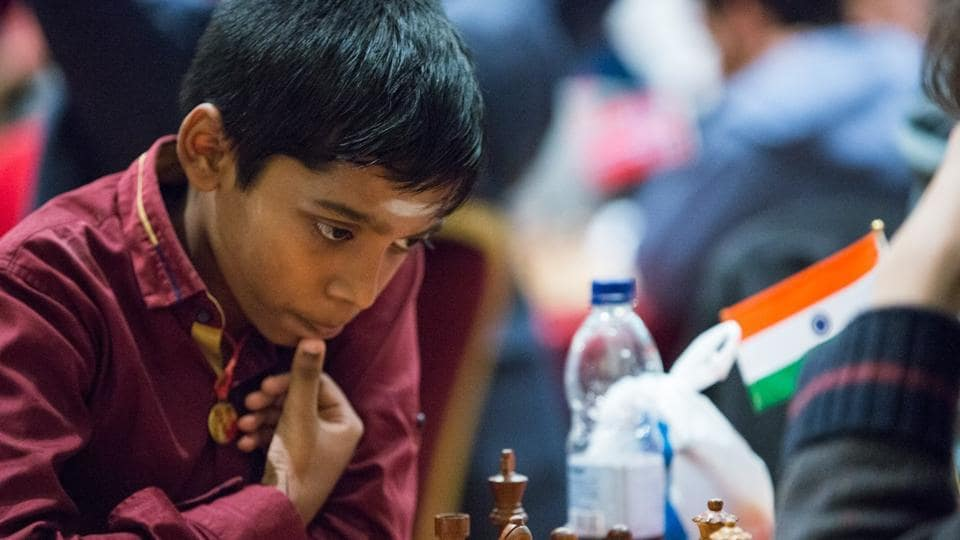 Image result for praggnanandhaa chess