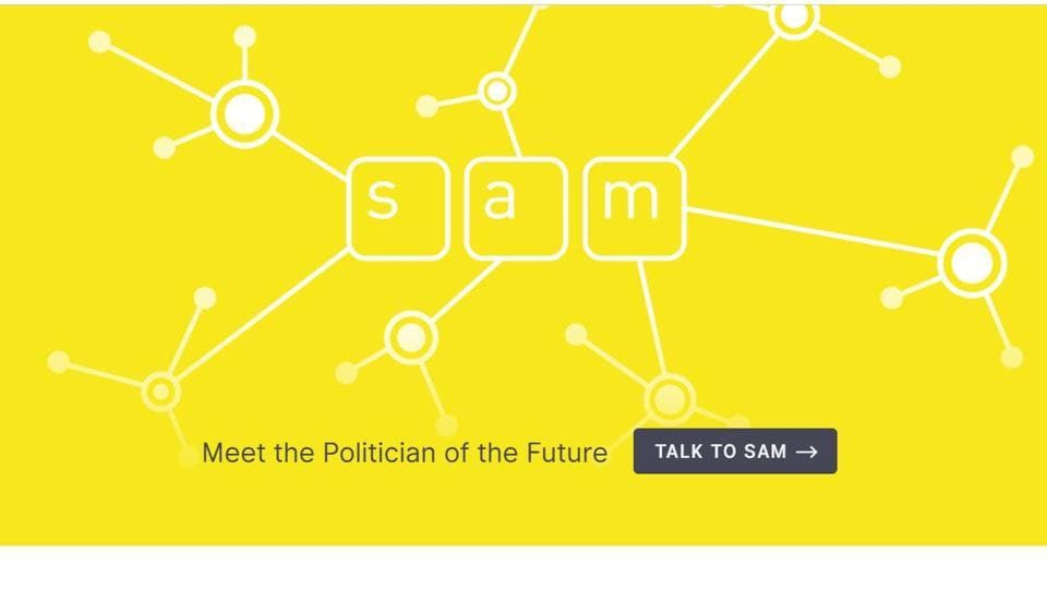 AI politician,World's first AI politician,SAM