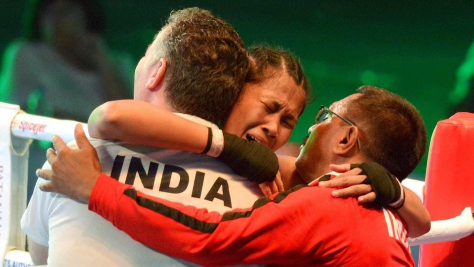India won five gold medals at the Women's Youth World Boxing Championship on Sunday, with Ankushita Boro (C) winning the title in the 64 kg category. (PTi)
