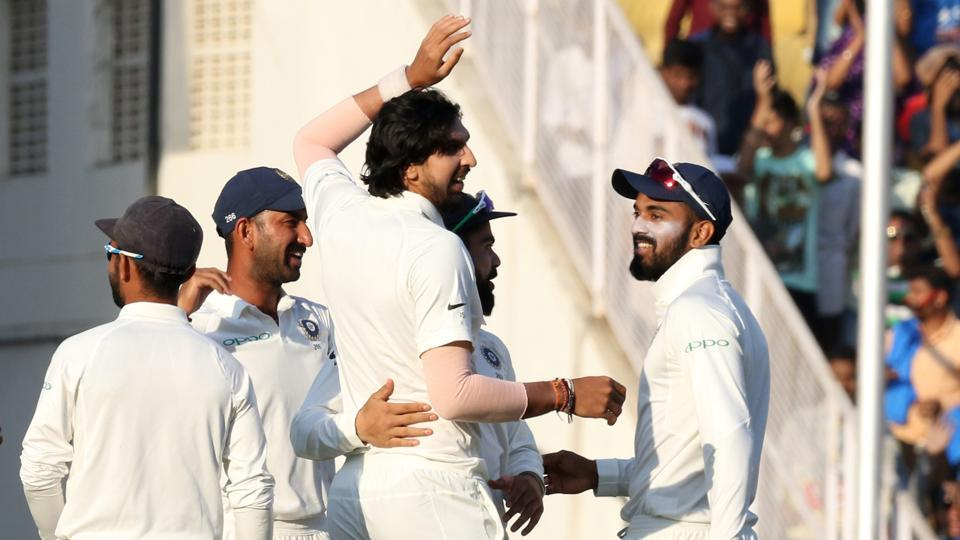 Ishant Sharma struck in the second ball of Sri Lanka's innings as they got off to a bad start.  (BCCI)
