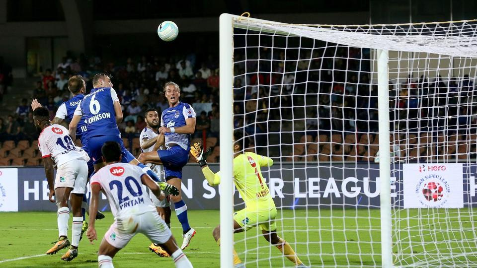 In the other game of the evening, Eric Paartalu scored a brace as Bengaluru FC thrashed Delhi Dynamos 4-1. (ISL )