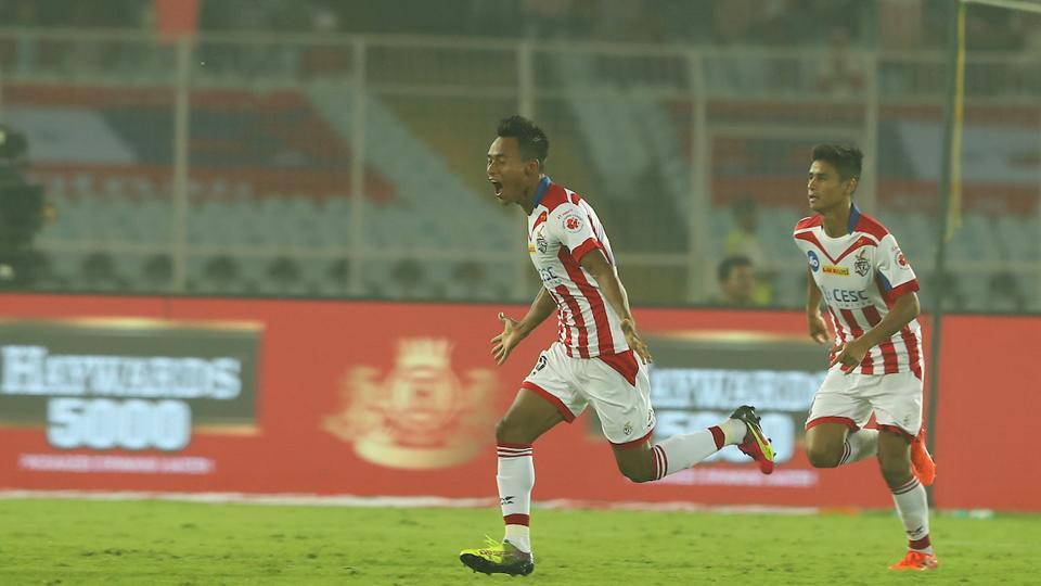Bipin Singh equalised for ATK with a thunderous free kick in the second half. (ISL)