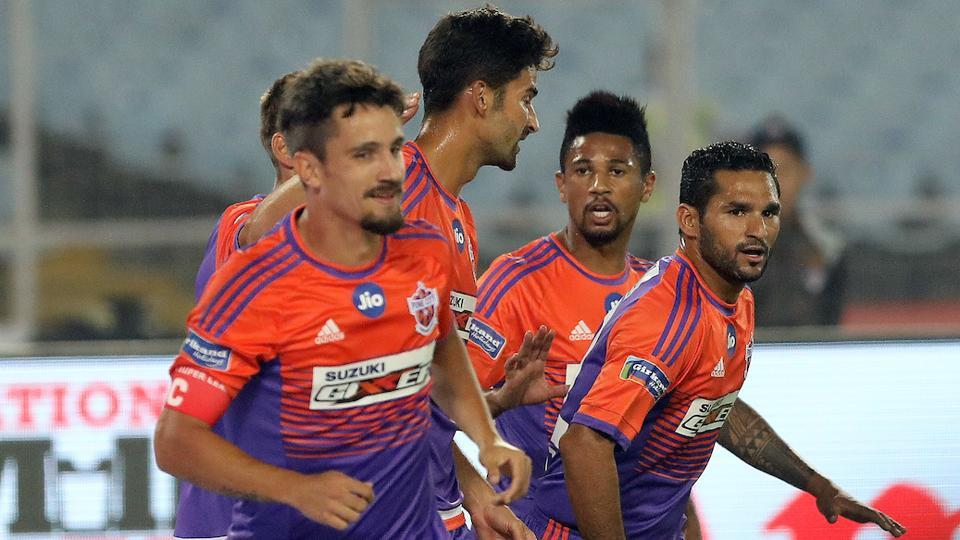 FC Pune City took the lead through Marcelinho (L), and added three more goals in the second half. Get highlights of ATK vs FCPune City, Indian Super League football game, here.