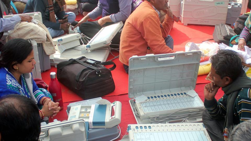 Due to technical glitches, electronic voting machines (EVM) were replaced after some time in several polling booths of Lucknow on Sunday.
