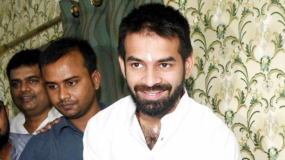 Rashtriya Janata Dal leader Tej Pratap Yadav in Patna.