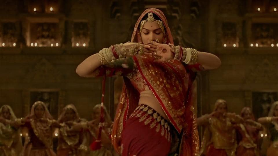 Deepika Padukone in a scene from the song Ghoomar, featuring in Padmavati.