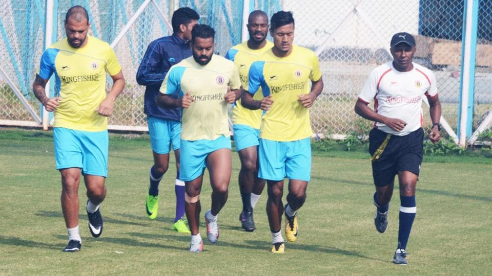 East Bengal will take on defending champions Aizawl FCin the I-League on Tuesday.