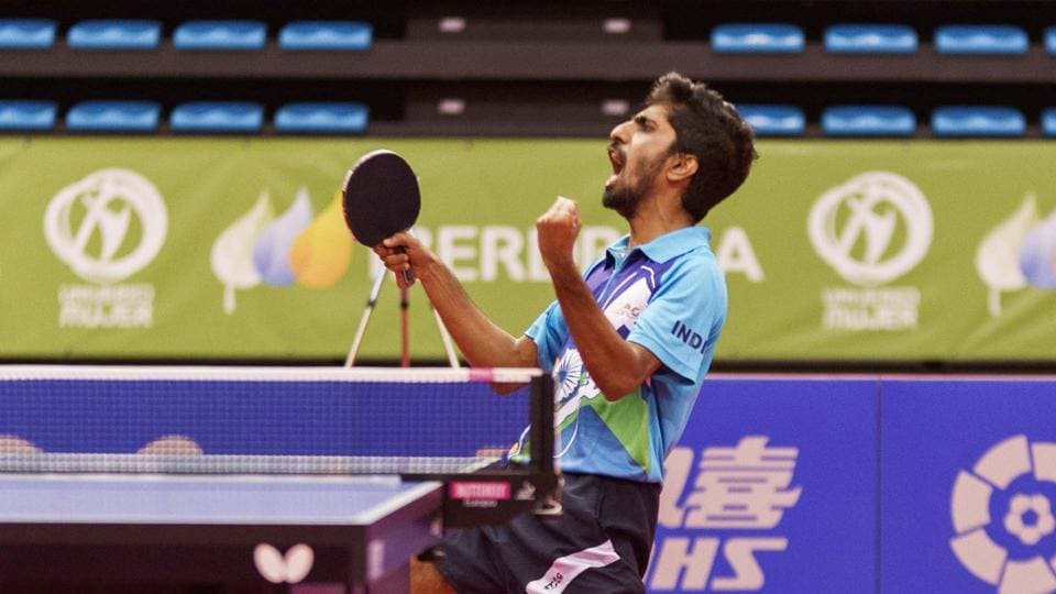 G Sathiyan was the ninth seed at the Spanish Open table tennis event.