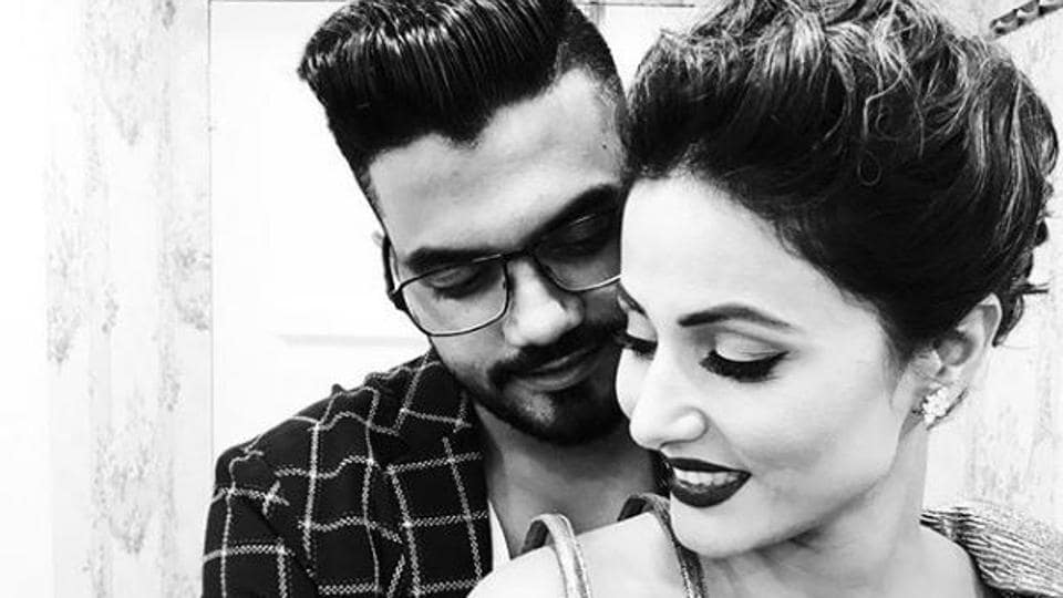 Hina Khan with boyfriend Rocky. Hina's stay inside the Bigg Boss 11 house has been eventful.