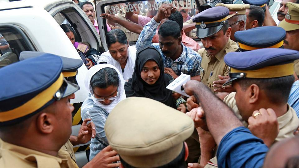 Akhila, 24, who converted to Islam in 2016 and took a new name, Hadiya, at the airport in Kochi on Saturday before she left for New Delhi to appear before the top court on Monday.