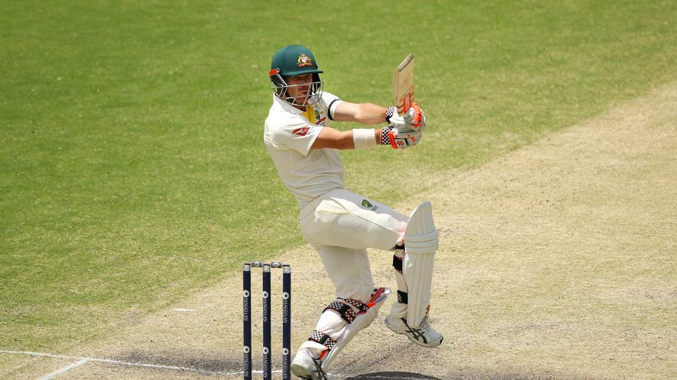 David Warner slammed an unbeaten 87 and he shared a magnificent 173-run stand with Cameron Bancroft.  (Getty Images)