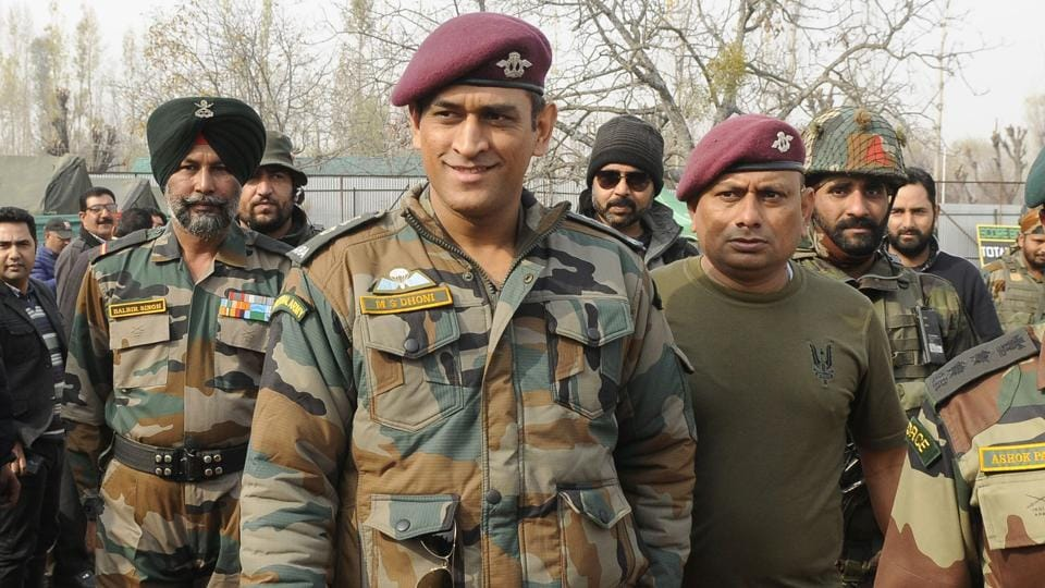 MS Dhoni visits a cricket match in Kunzer, 35 kms from Srinagar, during an Indian Army initiative. The former Indian captain feels the resumption of India vs Pakistan bilateral cricket is best left to the government.