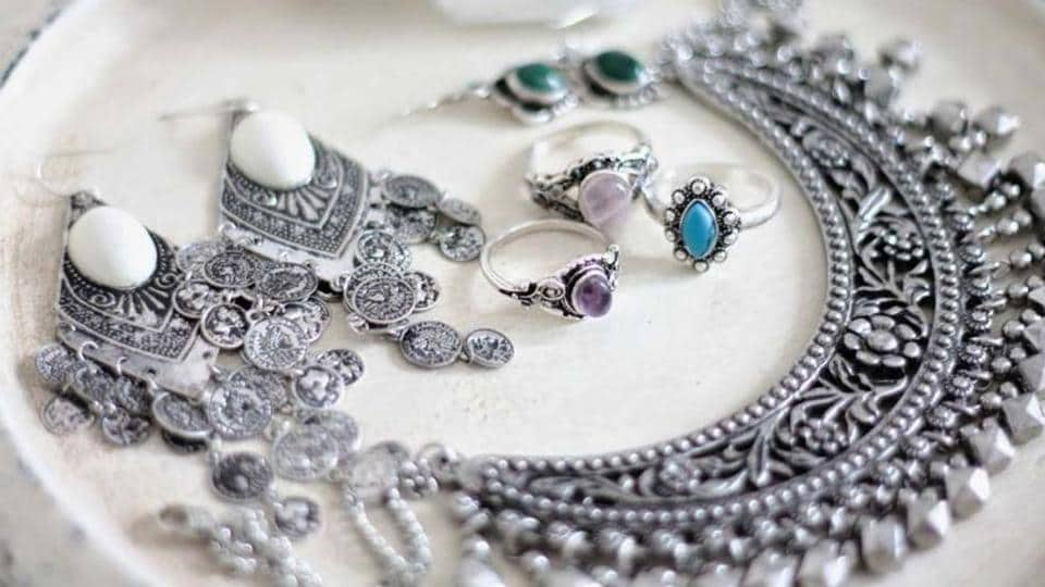 Silver can be encrusted with any stone easily, as opposed to gold.