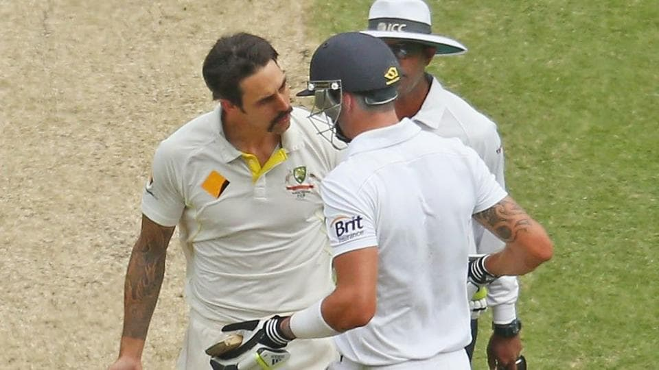 Kevin Pietersen and Mitchell Johnson were involved in a back-and-forth on social media that ended in a bizarre manner.