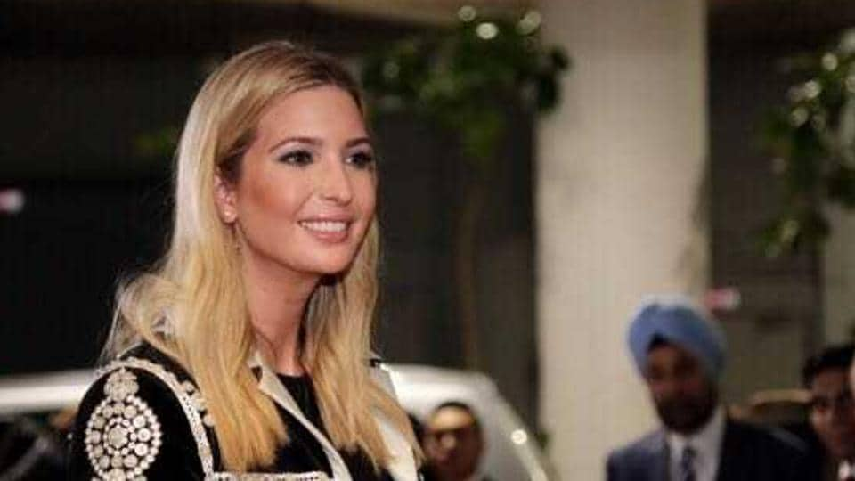 Ivanka Trump, advisor to US president Donald Trump, arrives at Rajiv Gandhi International airport in Hyderabad on Tuesday morning.