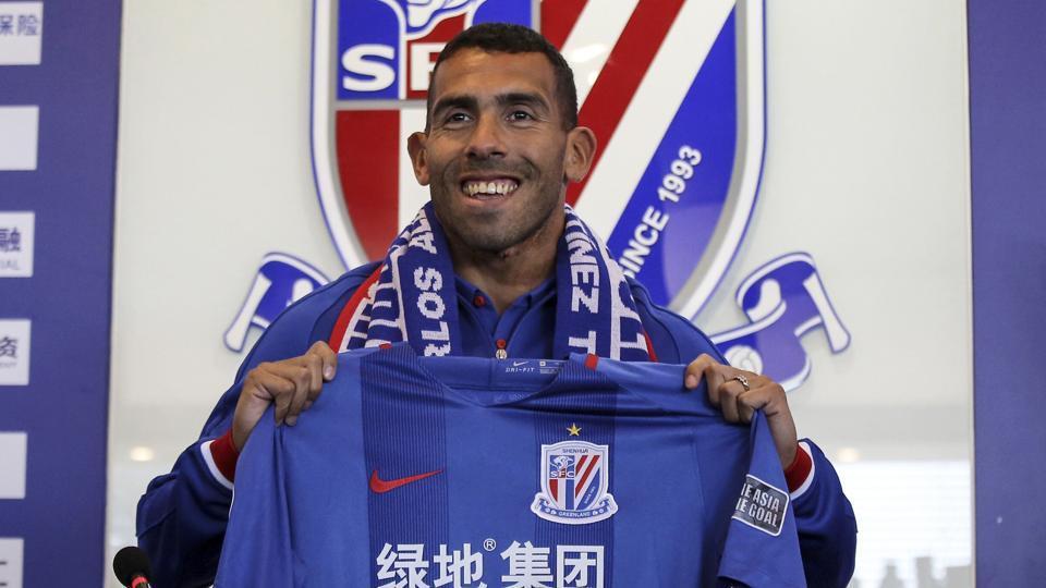 Carlos Tevez,Chinese Super League,Shanghai Shenhua