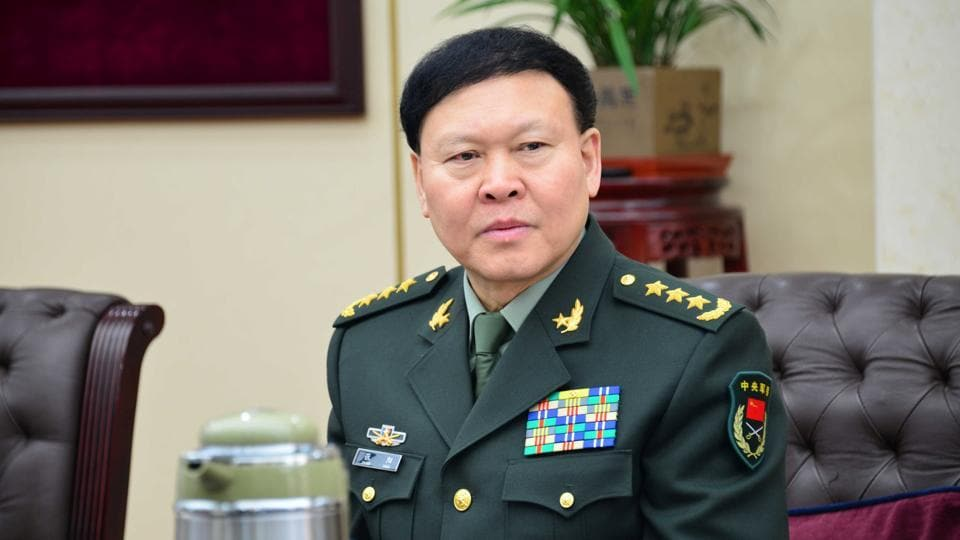 Image result for Zhang Yang, head of General Political Department of the People's Liberation Army (PLA),