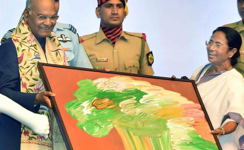 Mamata Banerjee,President Ram Nath Kovind,Painting