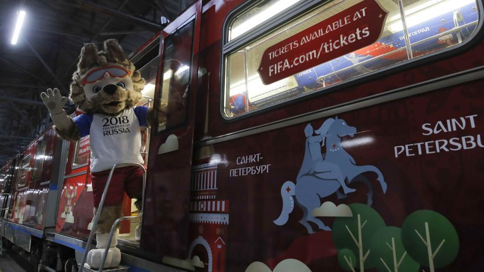 "Zabivaka, the name of the mascot, is Russian for ""the one who scores"".   (REUTERS)"