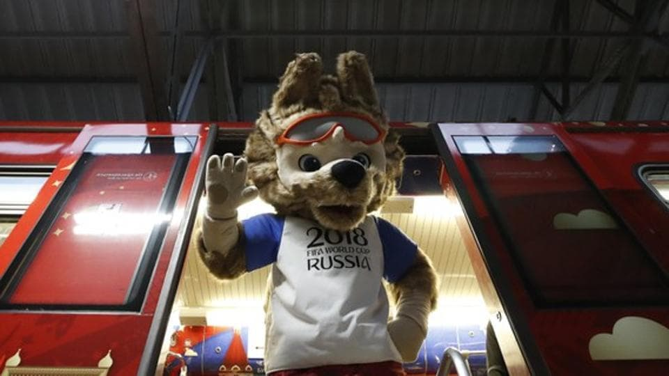 Zabivaka the wolf was unveiled as the official mascot for the 2018 FIFA World Cup in Russia.   (REUTERS)