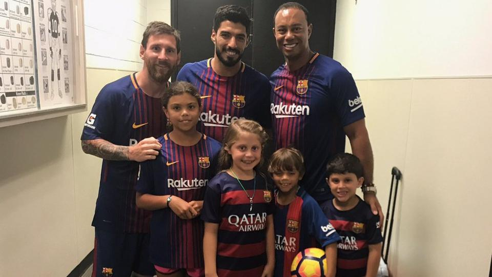 Golf legend Tiger Woods has revealed that his children are fans of Argentine and Barcelona football superstar Lionel Messi.