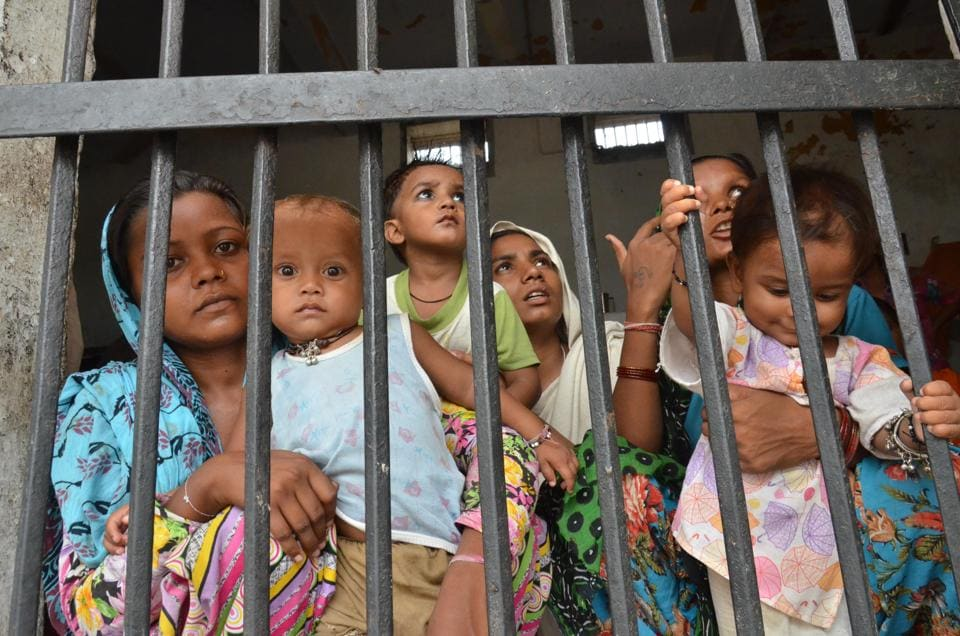 Women inmates at the central jail in Amritsar in August 2014.