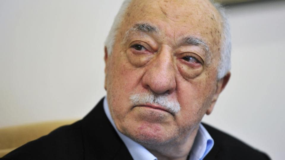 In this July 2016 file photo, Islamic cleric Fethullah Gulen speaks to members of the media at his compound, in Saylorsburg, Pennsylvania. Turkish prosecutors have issued detention warrants for 360 people in an operation targeting supporters of US-based cleric Fethullah Gulen within the army.