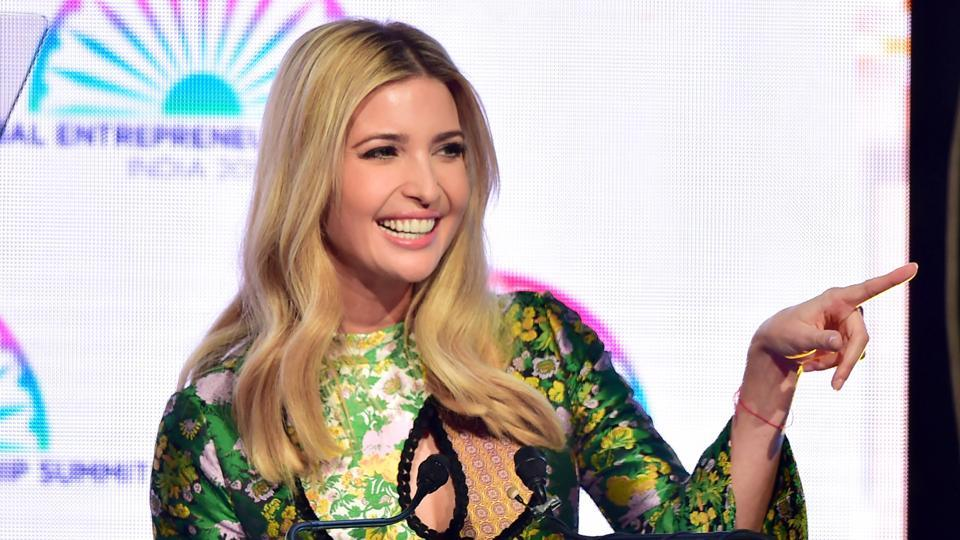 Ivanka Trump, daughter and adviser of the US President Donald Trump, at the inauguration of the Global Entrepreneurship Summit 2017 in Hyderabad.