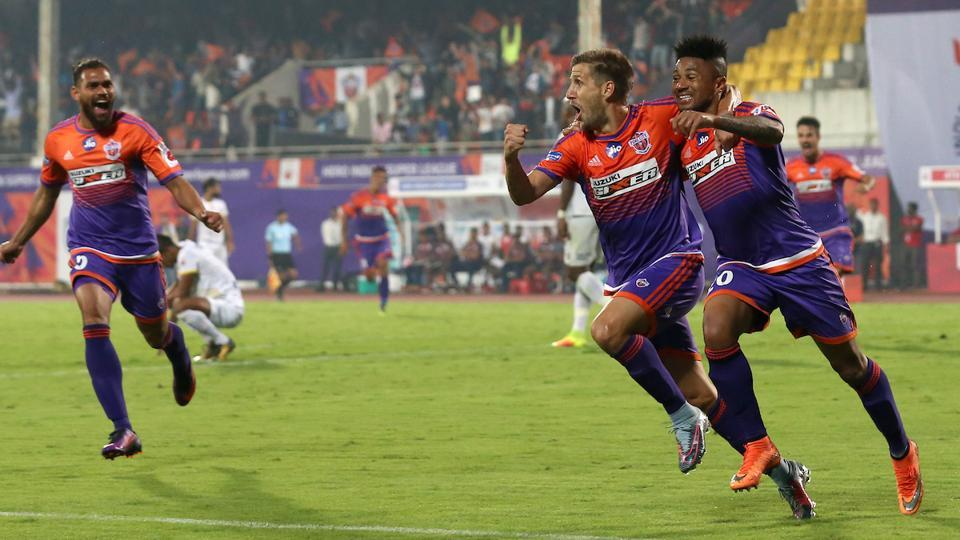 With seconds left in the game, Alfaro scored again to win the game for Pune. (ISL)
