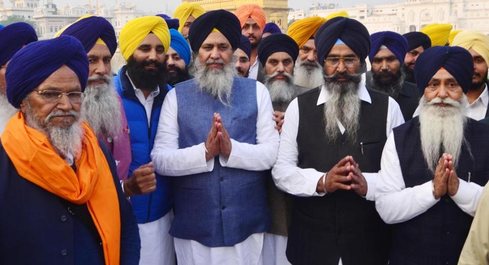 Newly elected SGPC president Gobind Singh Longowal at the Golden Temple in Amritsar on Wednesday.