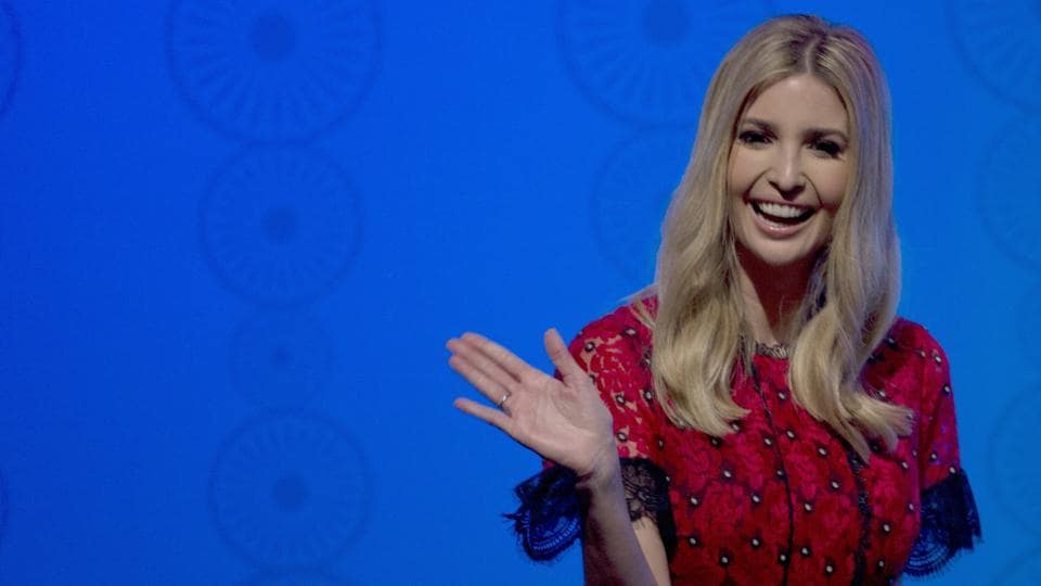 US presidential adviser Ivanka Trump greets during a panel discussion at the Global Entrepreneurship Summit in Hyderabad, India, Wednesday, November 29.