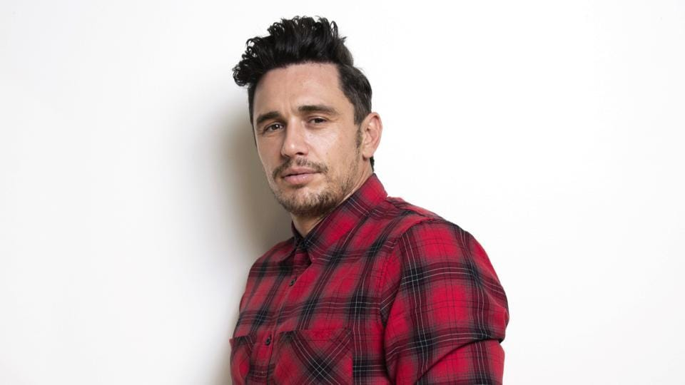 James Franco poses for a portrait in New York to promote his film, The Disaster Artist.