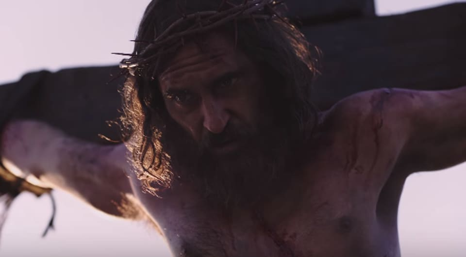 Joaquin Phoenix plays Jesus Christ in Mary Magdalene.