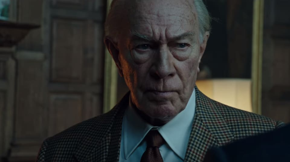 Christopher Plummer in All the Money in the World,